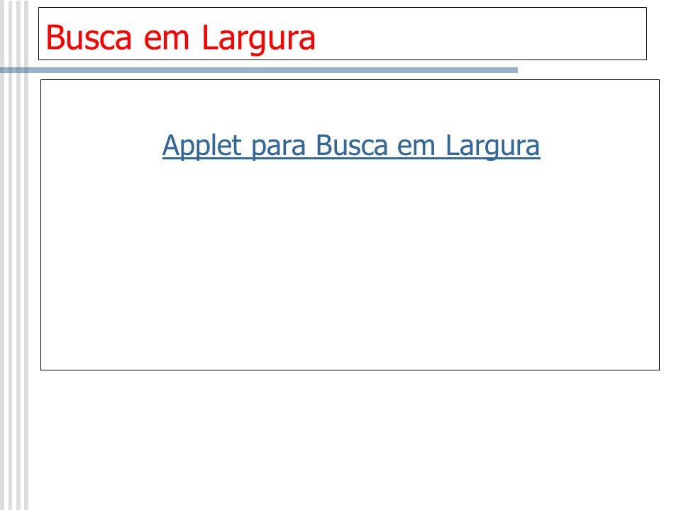 Busca em Largura Applet para Busca em Largura