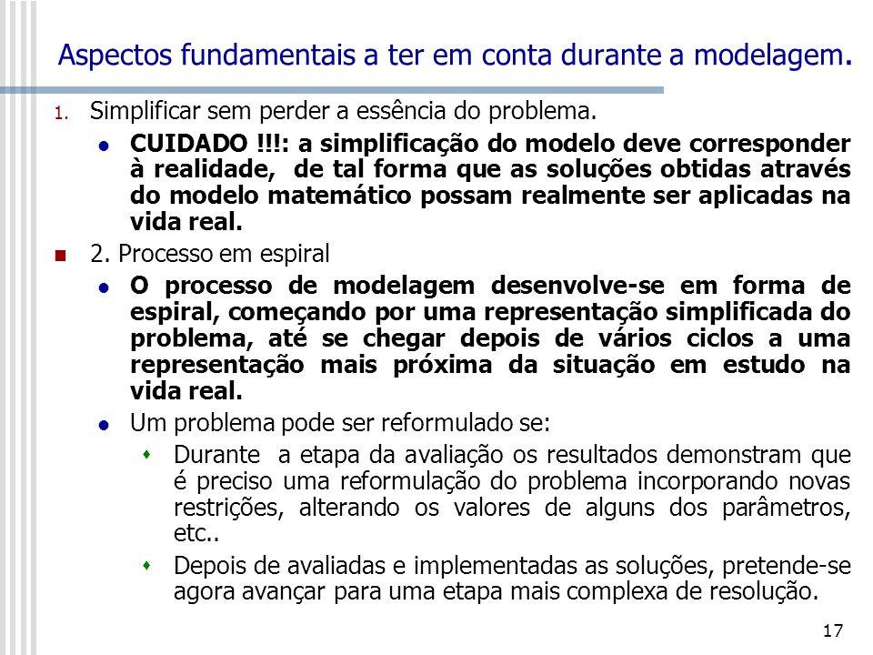 18 Aspectos fundamentais a ter em conta durante a modelagem 2.