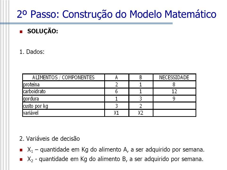 2º Passo: Construção do Modelo Matemático 3.
