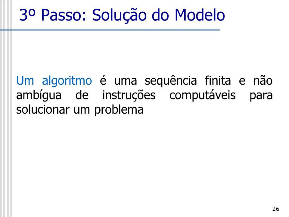 27 3º Passo: Solução do Modelo Nesta fase pode ser utilizado muito dos softwares e pacotes de computação disponíveis para a resolução de problemas de PO.