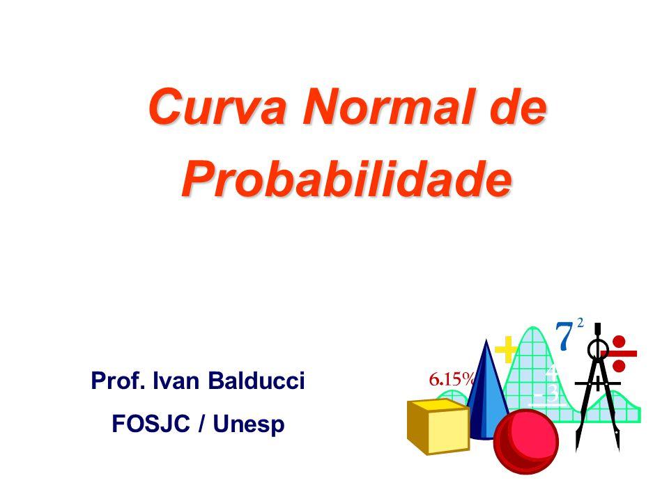 Curva Normal de Probabilidade Prof. Ivan Balducci FOSJC / Unesp
