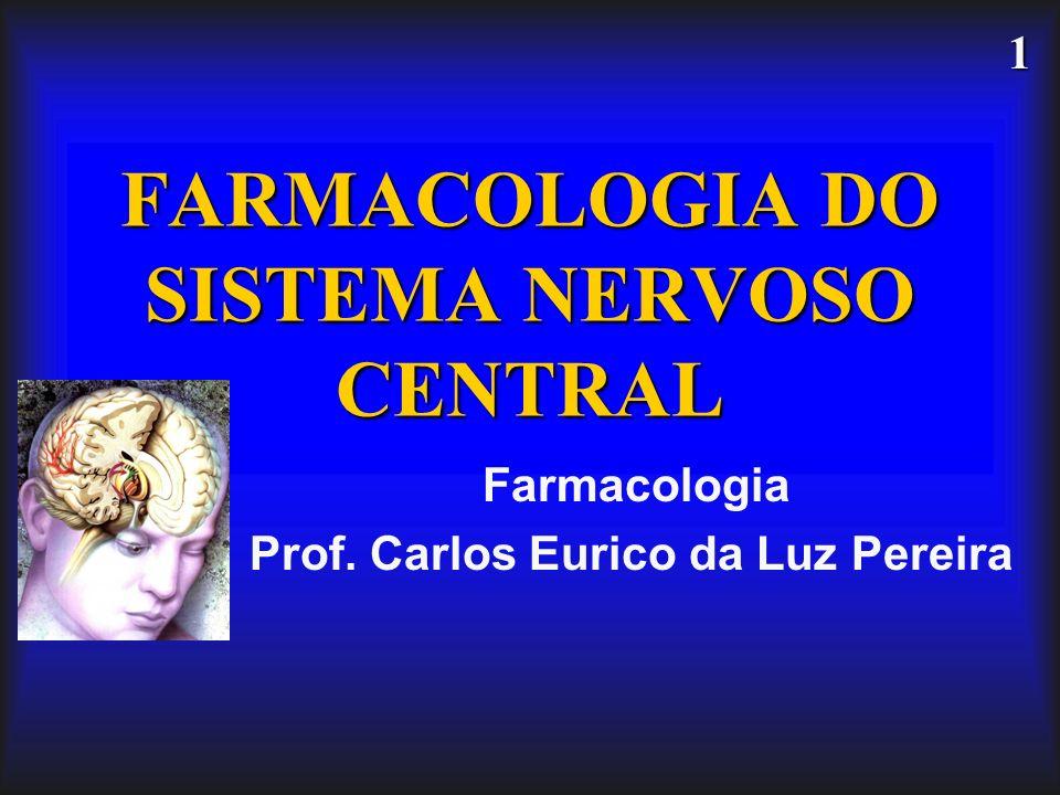 1 FARMACOLOGIA DO SISTEMA NERVOSO CENTRAL Farmacologia Prof. Carlos Eurico da Luz Pereira