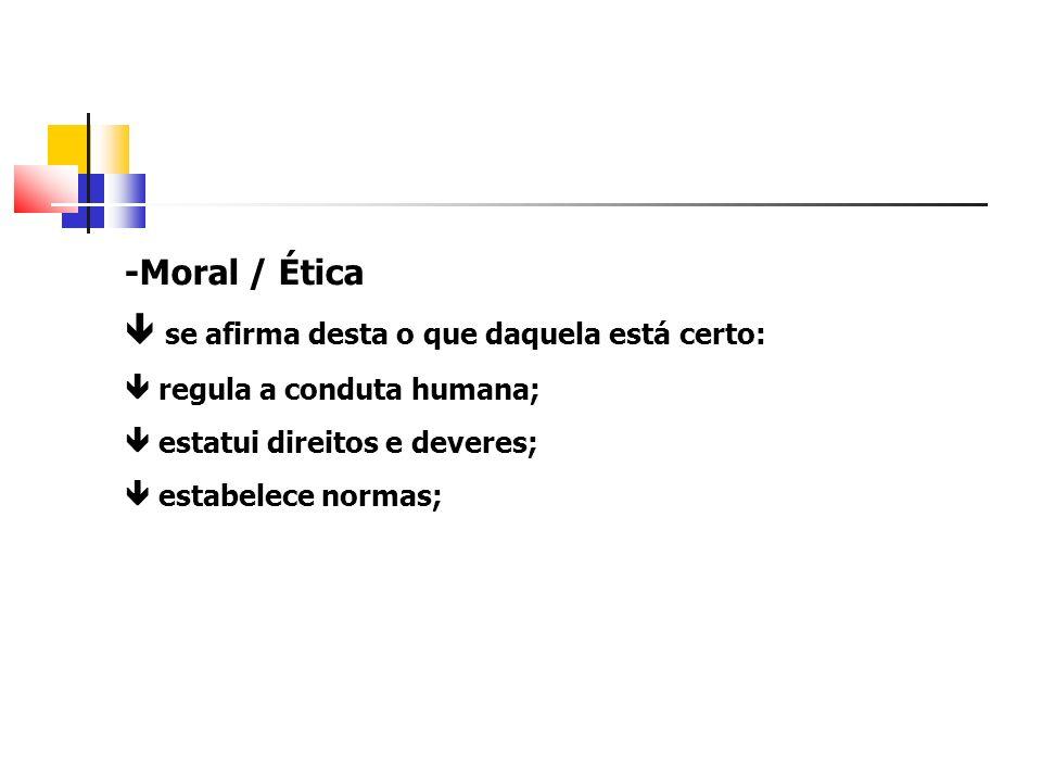 -Caráter social da moral estatui: normas morais; conduta de um homem em face de outro; conduta do homem em face de si mesmo ; - Normas surgem na consciência de homens que vivem em sociedade.