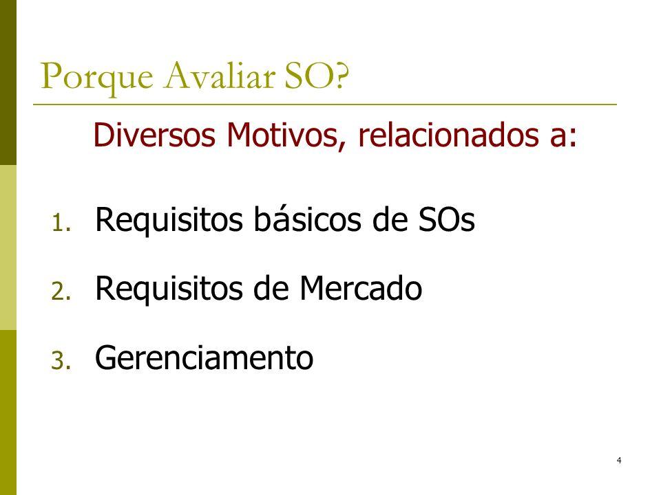 Requisitos b á sicos de SOs: 1.