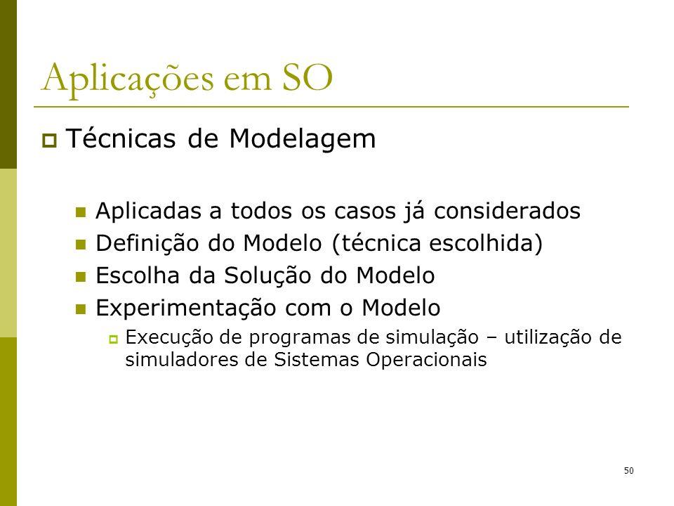 Técnicas de Modelagem Aplicadas a todos os casos já considerados Definição do Modelo (técnica escolhida) Escolha da Solução do Modelo Experimentação c