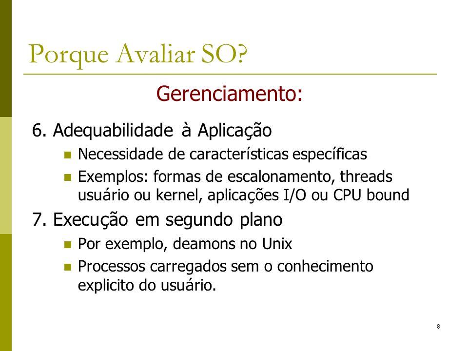 Exemplos de Monitores para SOs Linux (Ubuntu) 29 Aplicações em SO