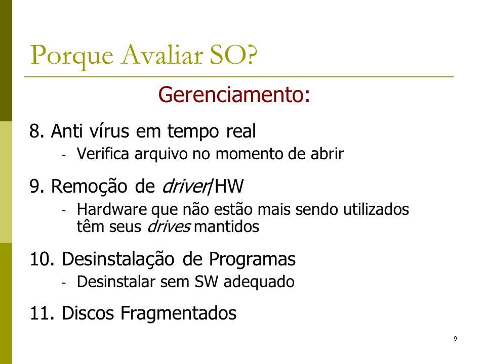 Exemplos de Monitores para SOs Linux Coleta de Informações no diretório /proc Vários sub-diretórios 30 Fonte: Mestrado de William Voorsluys – ICMC- USP, 2006 Aplicações em SO
