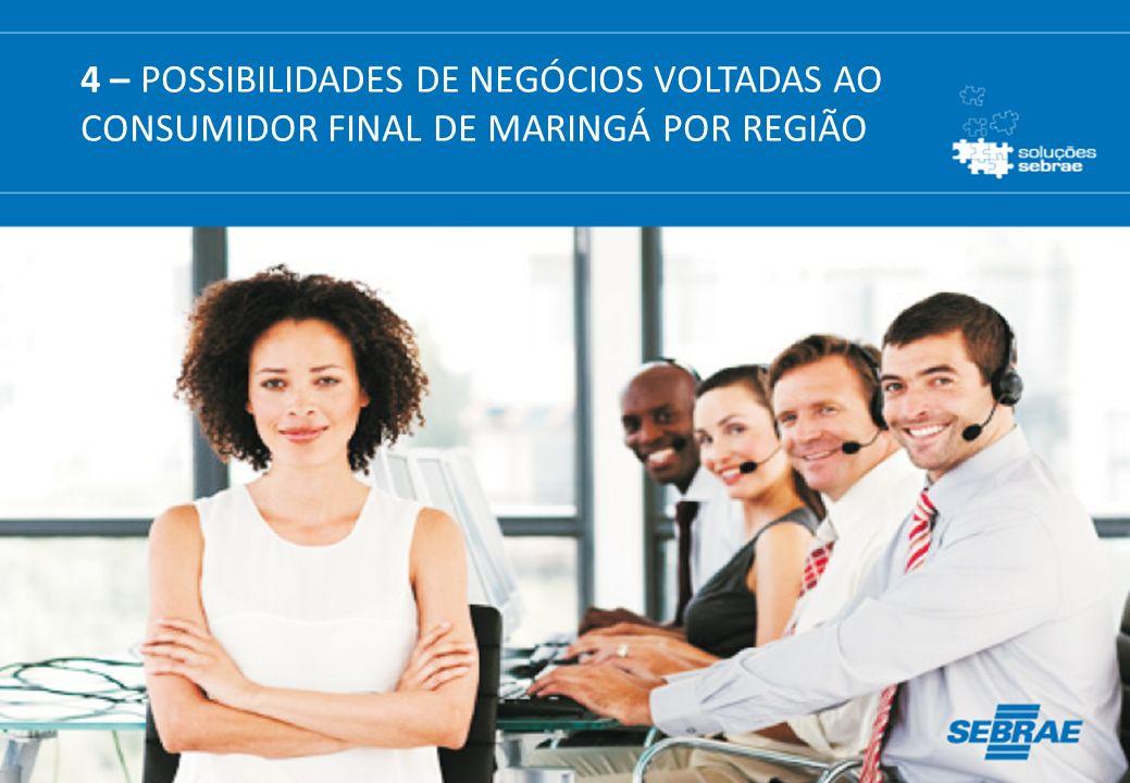 102 4 – POSSIBILIDADES DE NEGÓCIOS VOLTADAS AO CONSUMIDOR FINAL DE MARINGÁ POR REGIÃO