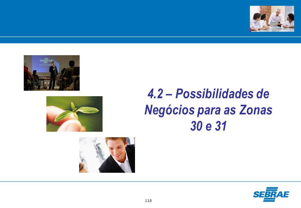 118 4.2 – Possibilidades de Negócios para as Zonas 30 e 31