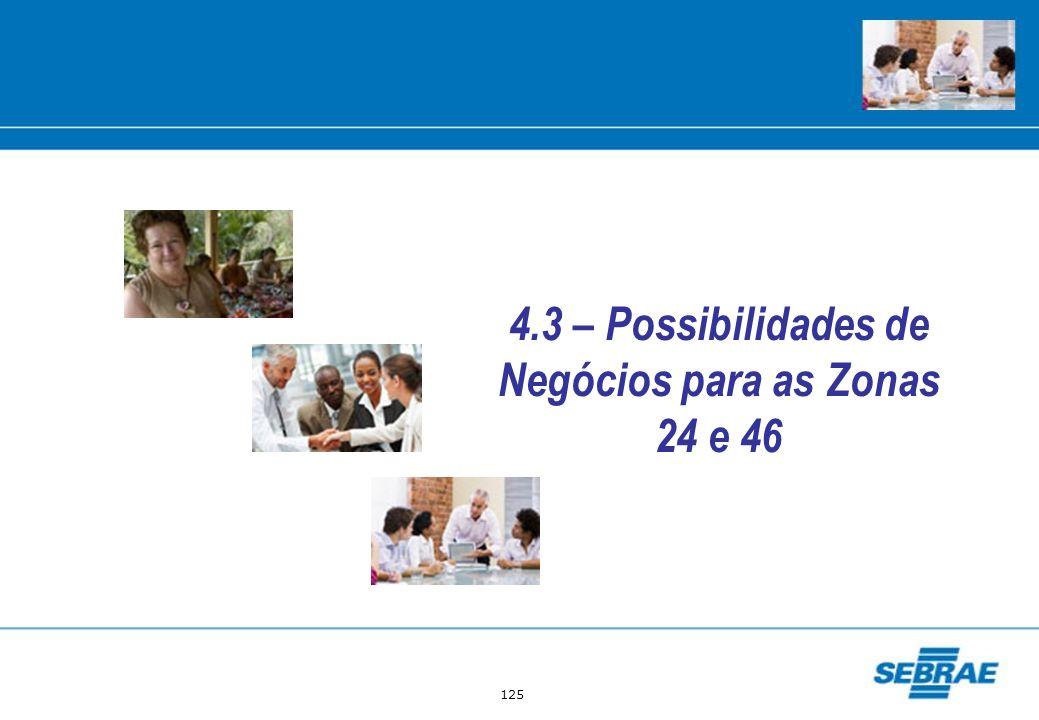 125 4.3 – Possibilidades de Negócios para as Zonas 24 e 46