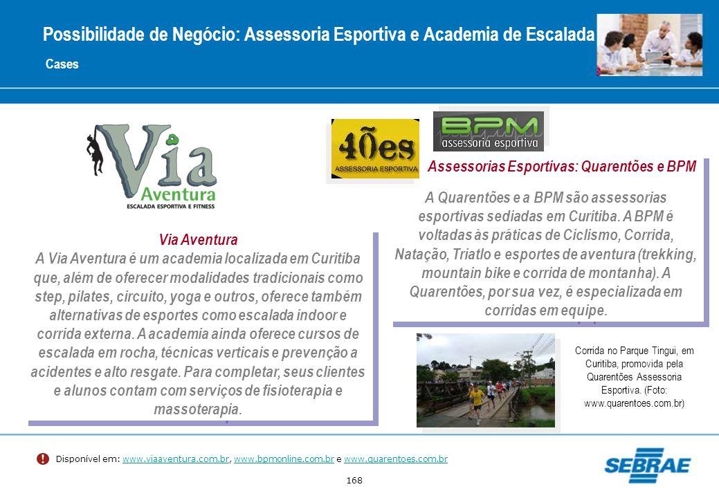 168 Cases Via Aventura A Via Aventura é um academia localizada em Curitiba que, além de oferecer modalidades tradicionais como step, pilates, circuito