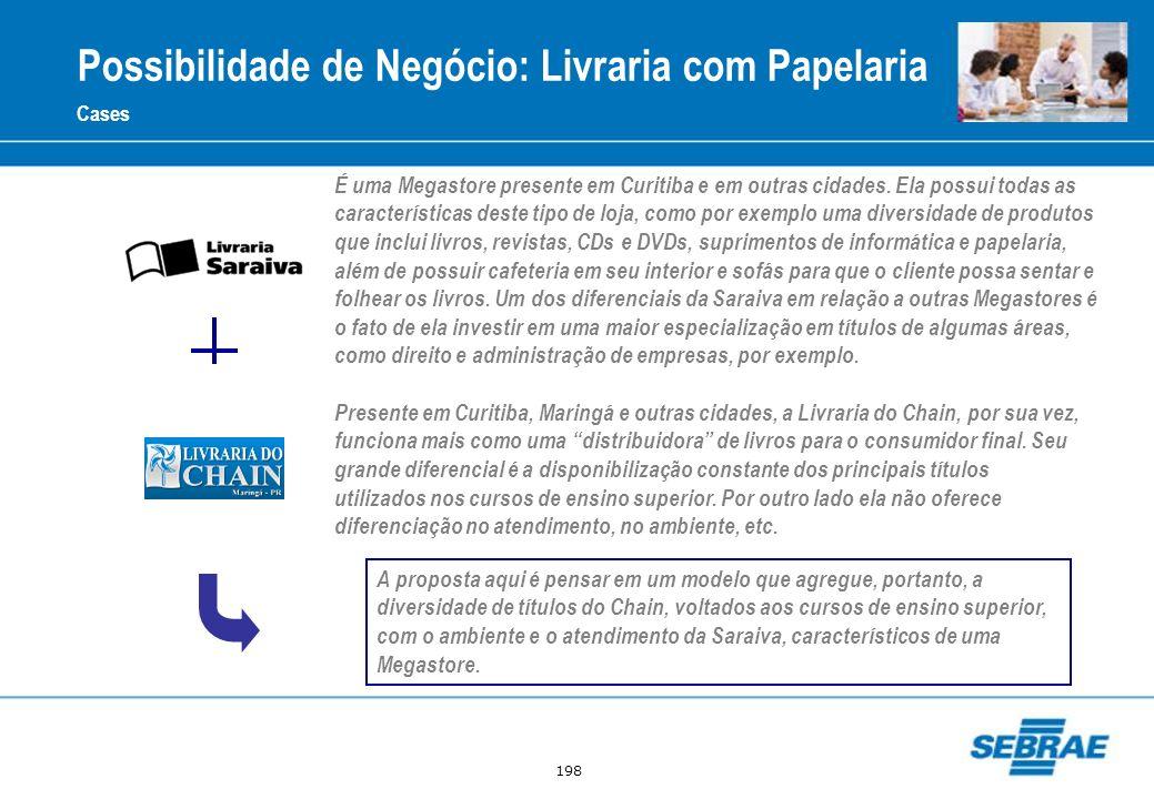 198 Cases Presente em Curitiba, Maringá e outras cidades, a Livraria do Chain, por sua vez, funciona mais como uma distribuidora de livros para o cons