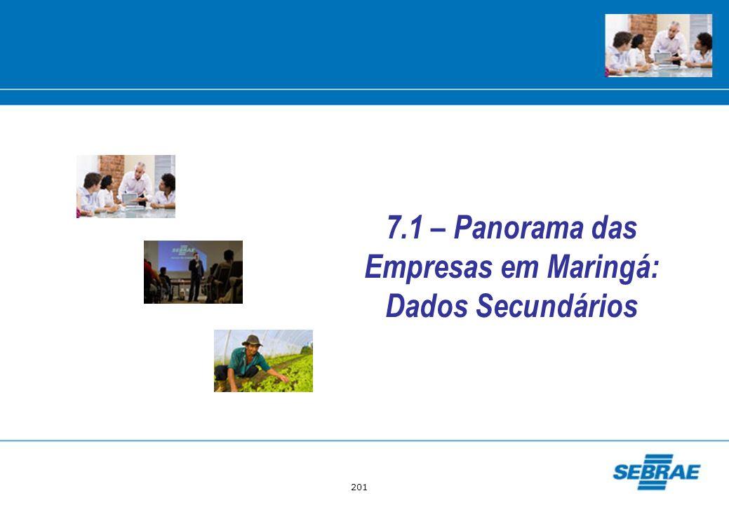 201 7.1 – Panorama das Empresas em Maringá: Dados Secundários