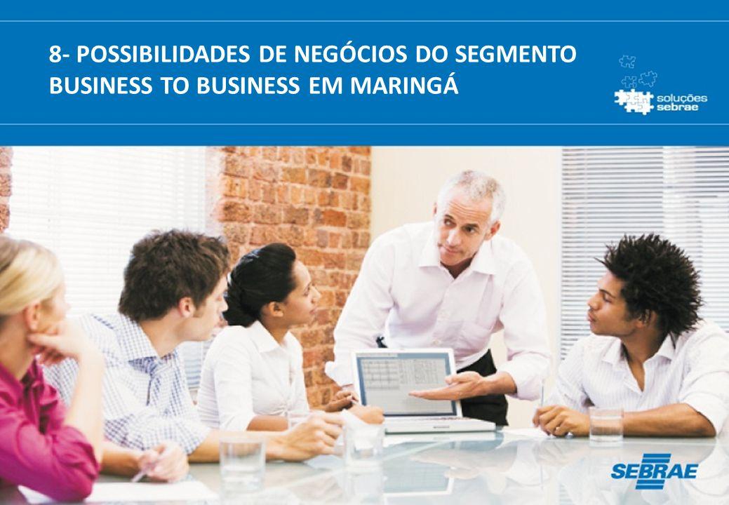 8- POSSIBILIDADES DE NEGÓCIOS DO SEGMENTO BUSINESS TO BUSINESS EM MARINGÁ