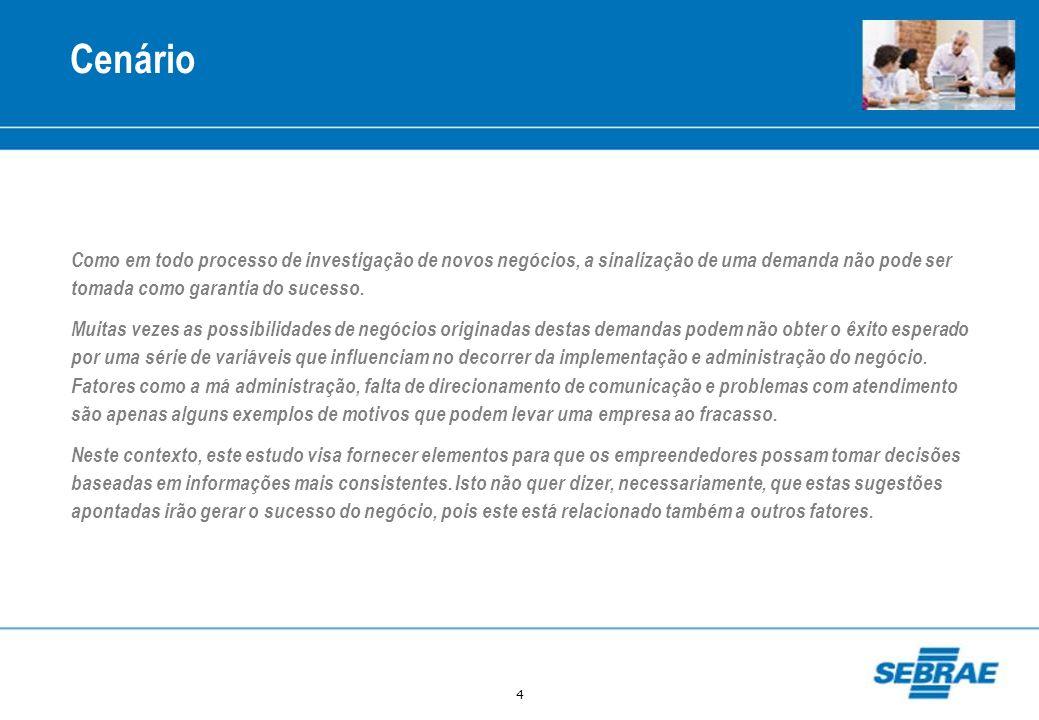 95 Possibilidade de Negócio: Informática e Academia para a Terceira Idade Origem da Demanda Crescimento de 38% da população idosa em Maringá entre 1996 e 2007 Considerando a evolução dos dados entre 1996 e 2007, a população com mais de 60 anos em Maringá teve um crescimento de 38%, um índice maior que o do estado do Paraná, que foi de 25% neste mesmo período.