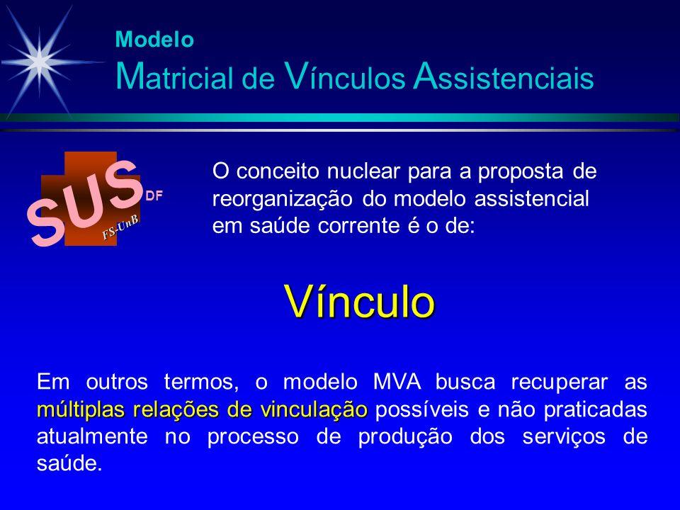 SUS FS-Un B DF Vínculo múltiplas relações de vinculação Em outros termos, o modelo MVA busca recuperar as múltiplas relações de vinculação possíveis e