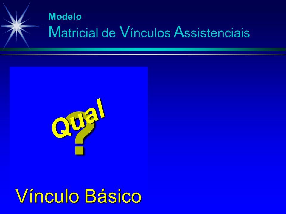 Modelo M atricial de V ínculos A ssistenciais Vínculo Básico ? Qual