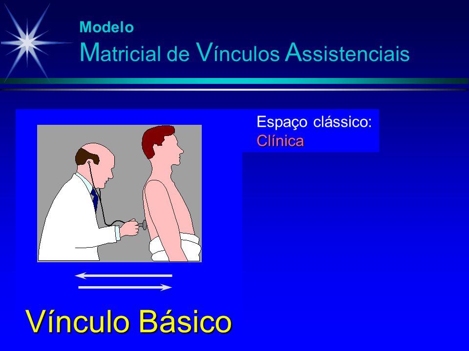 Modelo M atricial de V ínculos A ssistenciais Espaço clássico:Clínica Vínculo Básico