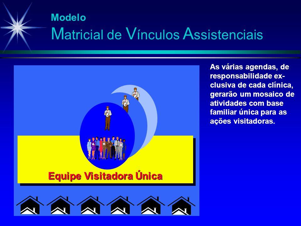 Modelo M atricial de V ínculos A ssistenciais As várias agendas, de responsabilidade ex- clusiva de cada clínica, gerarão um mosaico de atividades com