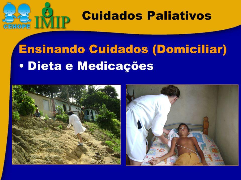 Cuidados Paliativos Ensinando Cuidados (Domiciliar) Dieta e Medicações