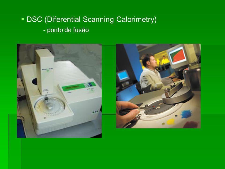 DSC (Diferential Scanning Calorimetry) - ponto de fusão