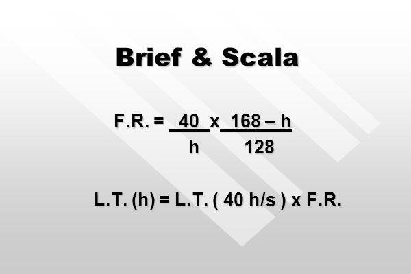 O modelo Brief & Scala Para aplicação a jornadas de trabalho maiores que 8 h/dia ou 40 h/semana. Não deve ser utilizado para justificar concentrações