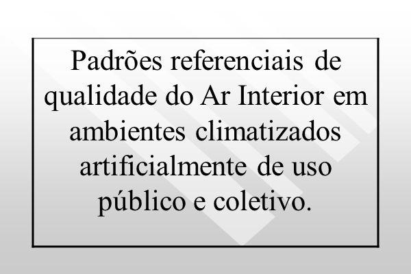 ANVISA Resolução – RE n° 176, de 24.10.2000 Considerando a preocupação com a saúde, a segurança, o bem – estar e o conforto dos ocupantes dos ambiente