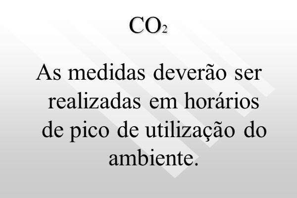 CO 2 O amostrador deve estar localizado na altura de 1,50 m do solo, no centro do ambiente ou em zona ocupada. Luttgarde s
