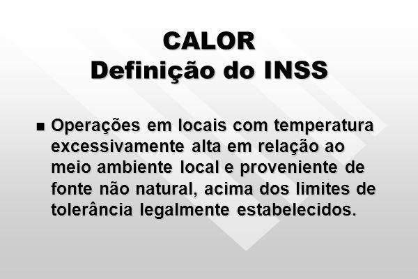 CALOR O índice utilizado no Brasil para avaliar Sobrecarga Térmica / Calor é o IBUTG Índice de Bulbo Úmido – Termômetro de Globo.