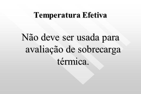 IBUTG Não deve ser utilizado para avaliação de conforto térmico Não deve ser utilizado para avaliação de conforto térmico