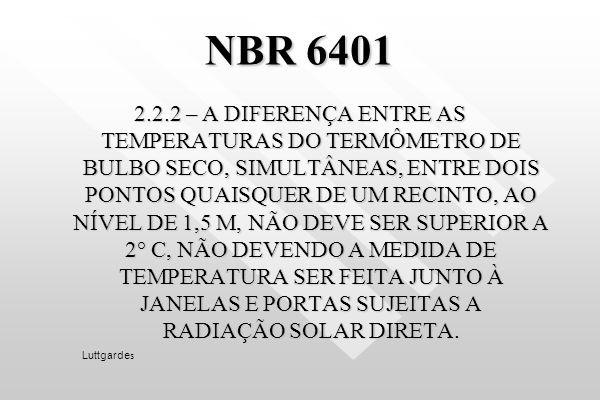 Condições externas para o Rio de Janeiro Tabelas climatológicas da Diretoria de Rotas Aéreas, Ministério da Aeronáutica. VERÃOVERÃOVERÃOINVERNOINVERNO