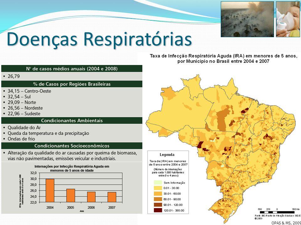 Doenças Respiratórias OPAS & MS, 2009