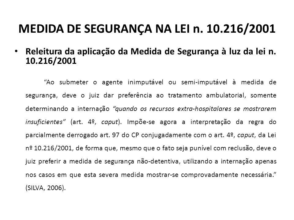 MEDIDA DE SEGURANÇA NA LEI n.