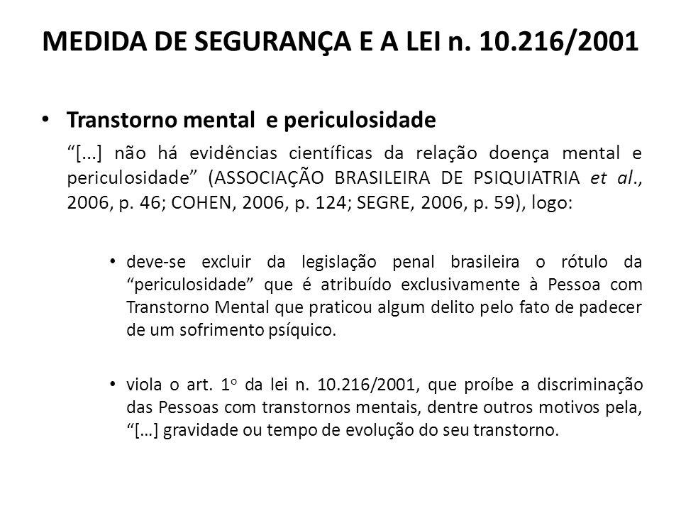 MEDIDA DE SEGURANÇA E A LEI n.
