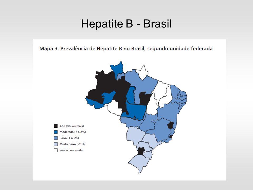 Inquérito Nacional de Soroprevalência das Hepatites A, B e C nas Capitais Brasileiras PNHV/2009 – Dados Preliminares Anti-HBc +