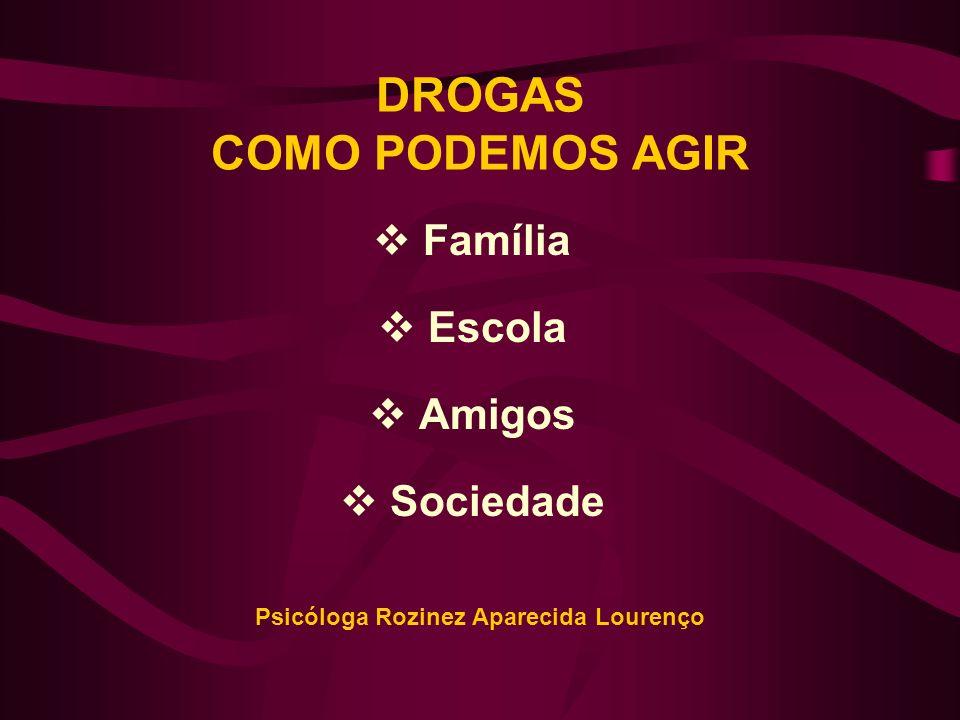 Família, Escola e Sociedade mostram-se perplexos e despreparados frente às drogas, solicitando soluções mágicas...
