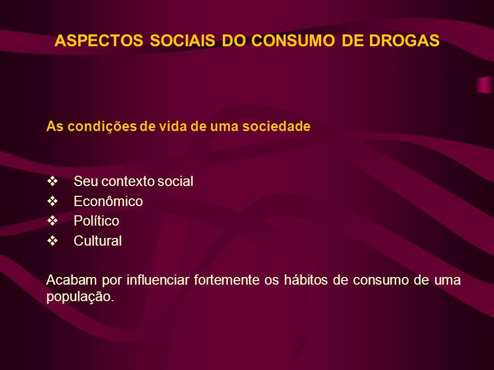 As condições de vida de uma sociedade Seu contexto social Econômico Político Cultural Acabam por influenciar fortemente os hábitos de consumo de uma p