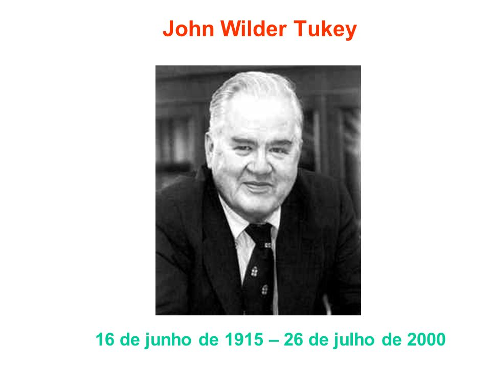 John Wilder Tukey 16 de junho de 1915 – 26 de julho de 2000