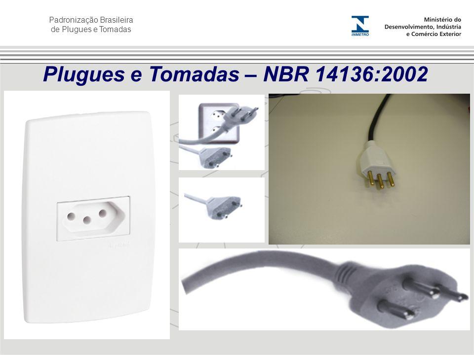 Padronização Brasileira de Plugues e Tomadas Plugues e Tomadas – NBR 14136:2002
