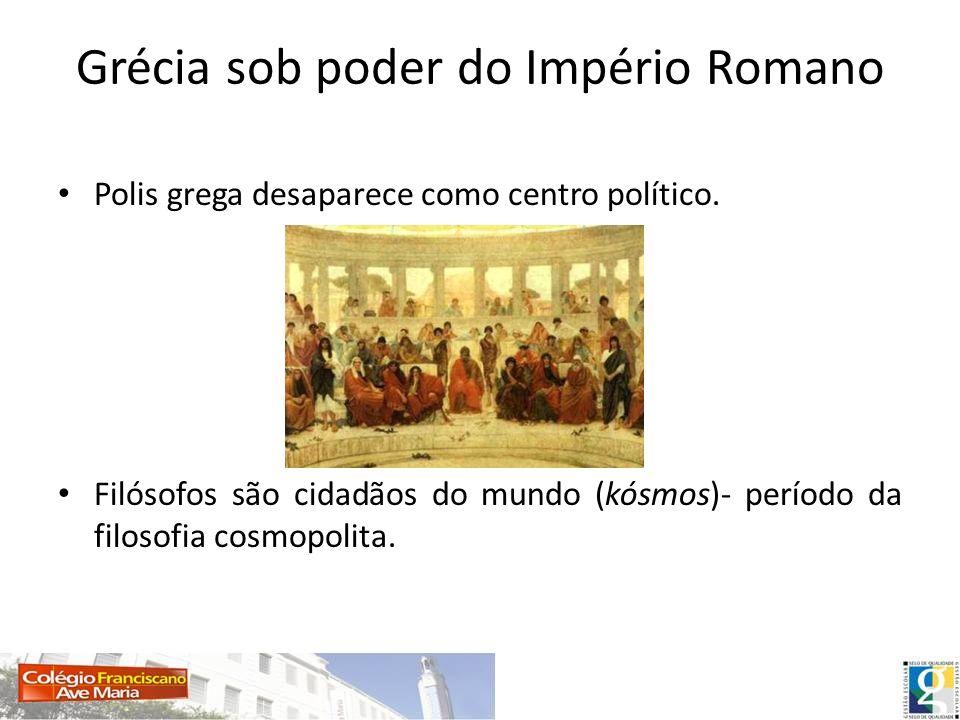 Períodos da filosofia grega 1-Período pré-socrático ou cosmológico (séc.