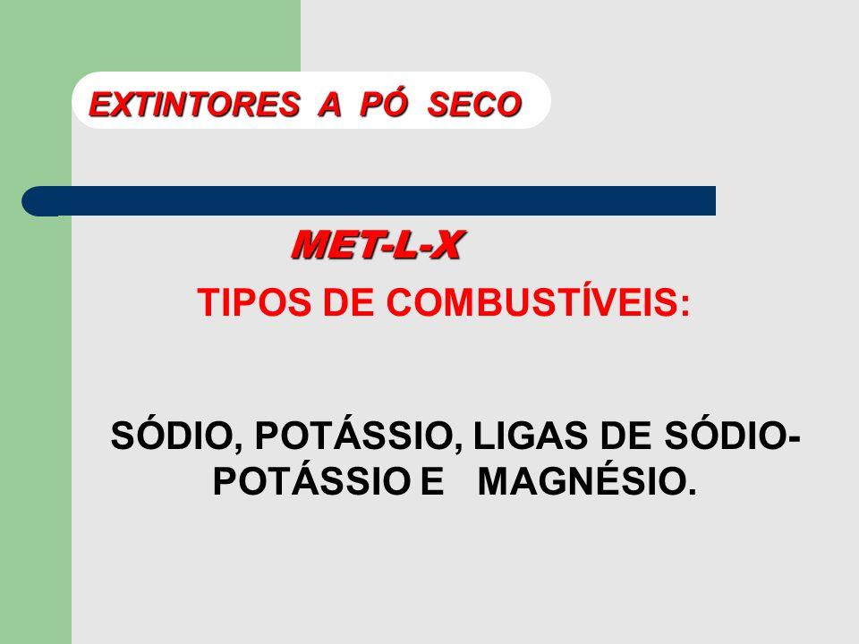 MET-L-X COMPOSIÇÃO: CLORETO DE SÓDIO, FOSFATO TRICÁLCIO, METAL ESTEARATO E AGENTE TERMOPLÁSTICO. EXTINTORES A PÓ SECO