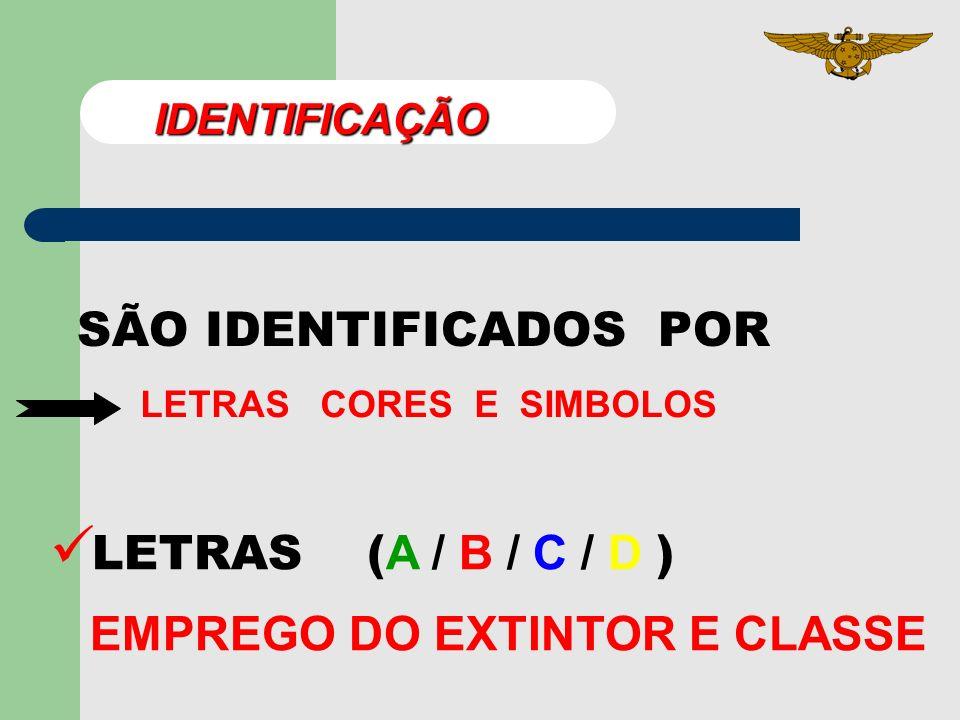 - DIFERENCIAR OS TIPOS DE EXTINTORES. Objetivos - CLASSIFICAR OS EXTINTORES PORTÁTEIS. - IDENTIFICAR OS EXTINTORES.