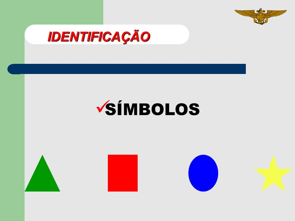 IDENTIFICAÇÃO SÍMBOLOS