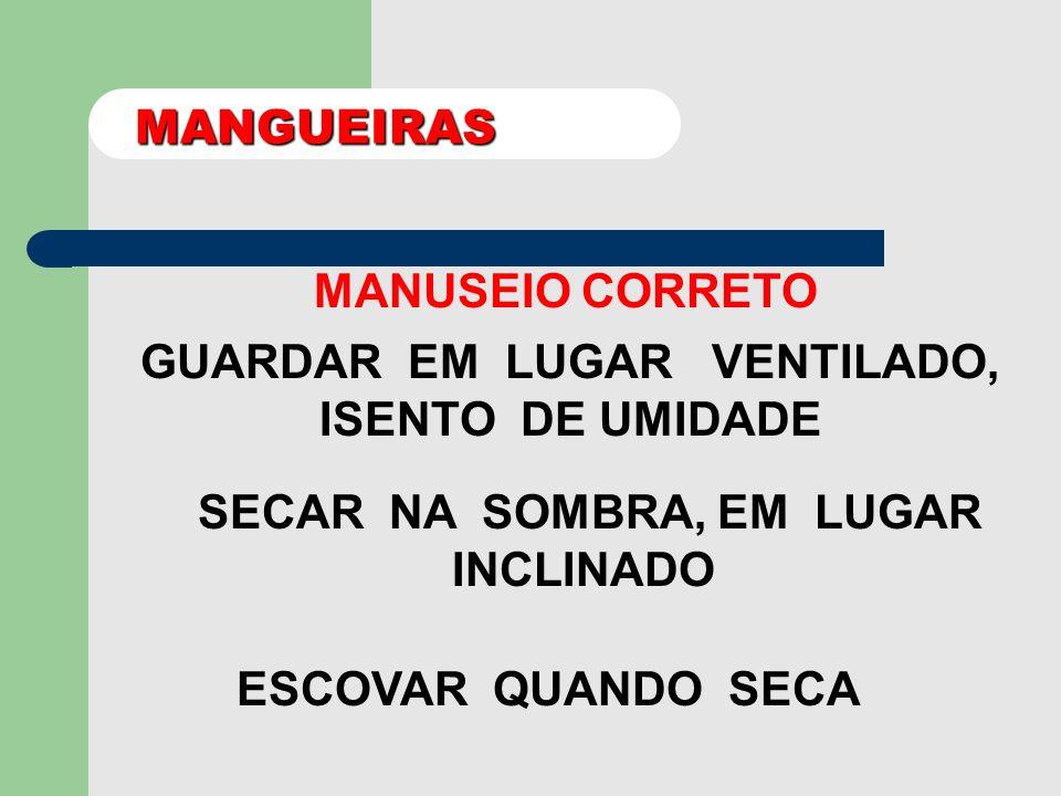 MANGUEIRAS MODELOS 1½ pol 2½ pol 3½ pol EXTREMIDADES ENGATE RÁPIDO ROSCA DUPLA LONA REVESTIMENTO INTERNO: BORRACHA