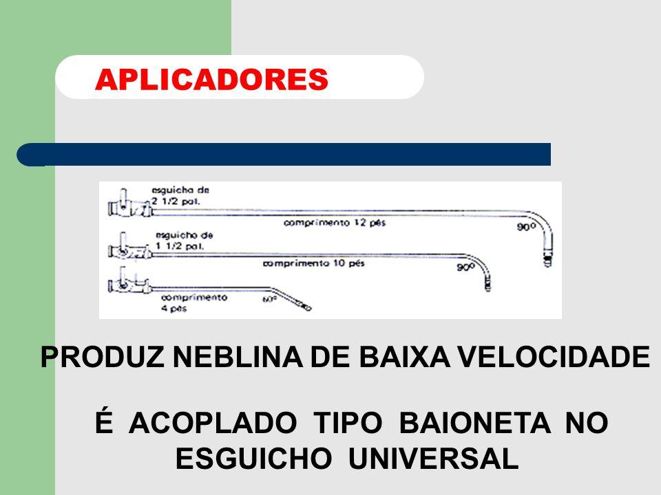 PRODUZ JATO SÓLIDO ORIFÍCIO SUPERIOR NEBLINA DE ALTA ORIFÍCIO INFERIOR C/ PULVERIZADOR ESGUICHOS UNIVERSAL