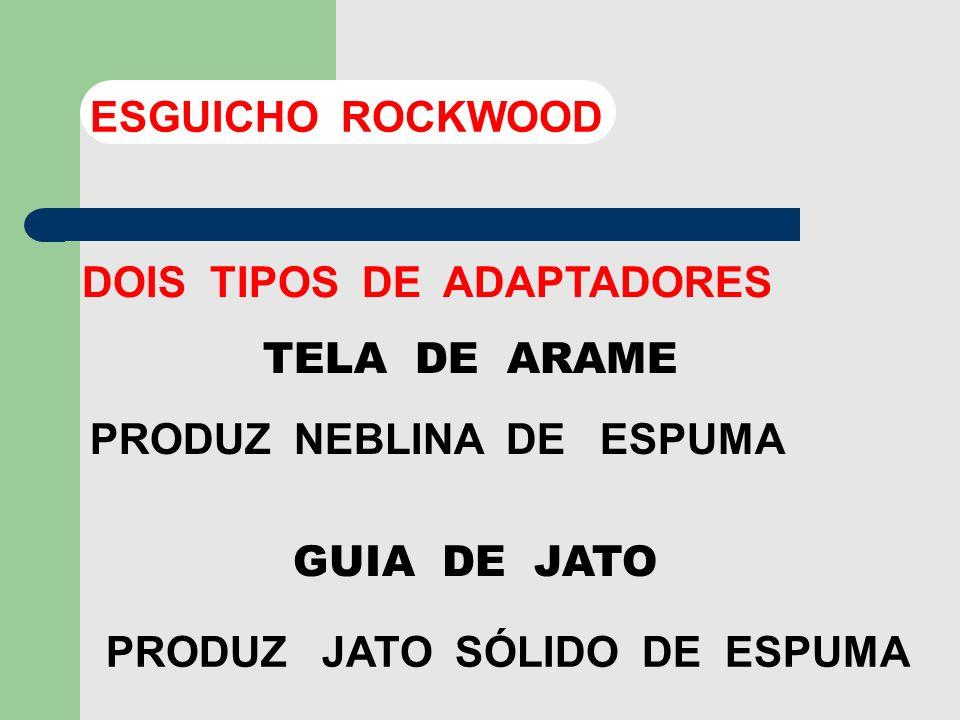 O AR SERÁ INTRODUZIDO ATRAVÉS DE ABERTURA EXISTENTE NO ARO SUPORTE DO ADAPTADOR ESGUICHO ROCKWOOD