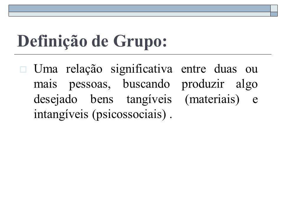 Categorias que compõem um grupo: 1.