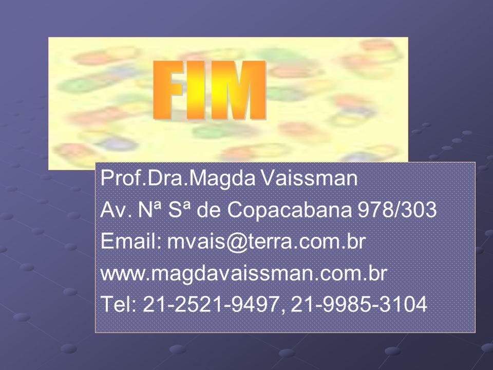 Prof.Dra.Magda Vaissman Av. Nª Sª de Copacabana 978/303 Email: mvais@terra.com.br www.magdavaissman.com.br Tel: 21-2521-9497, 21-9985-3104