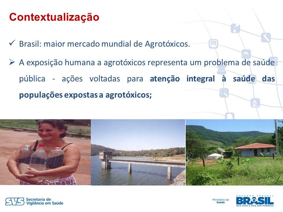 Brasil: maior mercado mundial de Agrotóxicos. A exposição humana a agrotóxicos representa um problema de saúde pública - ações voltadas para atenção i