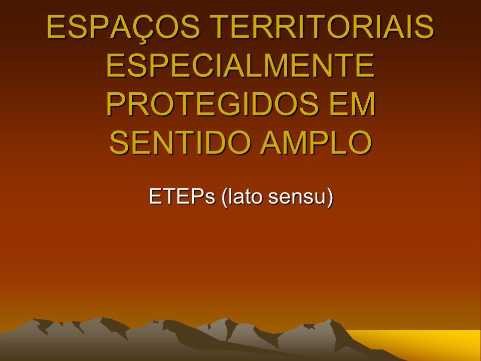 ESPAÇOS TERRITORIAIS ESPECIALMENTE PROTEGIDOS EM SENTIDO AMPLO ETEPs (lato sensu)